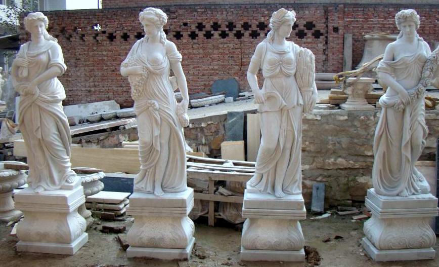 Four Seasons Statue Sculptures, Marble 4 Season Statue ...